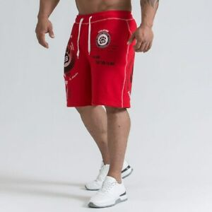 Men-039-s-Gym-Shorts-Bodybuilding-Fitness-Sport-Short-Pants-Running-Bottoms-Trousers