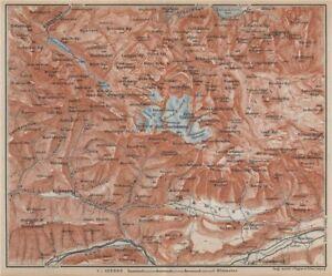 Dachstein Karte.Details About Hoher Dachstein Schladming Filzmoos Vorderer Gosausee Topo Map Karte 1929