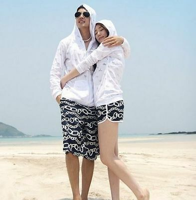 Fashion Mens Womens Couples Rainbow Beach Surf Board Swim Shorts Swin Pants