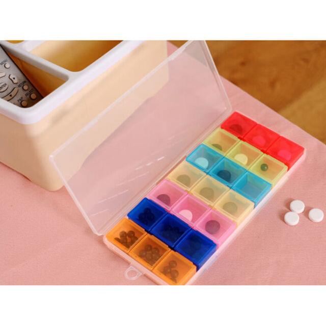 Weekly Pill Box Medicine Medical Drug Case Caddy Storage Organiser Holder J,y