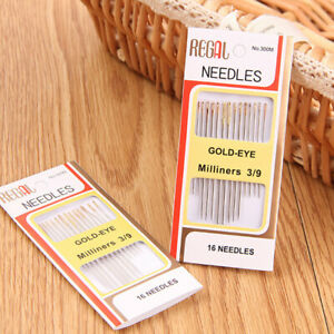 16PCS-Tail-Gold-Plated-Stainless-Steel-Hand-Sewing-Needles-Home-DIY-Sewing-TooQY