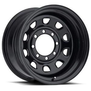 16X8 Vision 84 Vision 6x139.7 ET-12 Black Wheels (Set of 4)