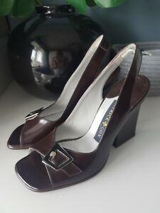 Détails sur * entièrement neuf sans étiquette Patrick Cox Taille 5.5 marron à talon et Boucle ChaussuresSandales * L @ @ K ** afficher le titre