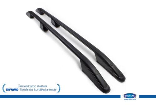 2015+ Black Aluminium Roof Rack Rails Side Bars Set To Fit Mitsubishi L200