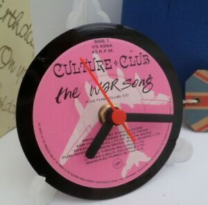 new-CULTURE-CLUB-BOY-GEORGE-RECORD-CLOCK-actual-VINYL-RECORD-CENTRE-Desk