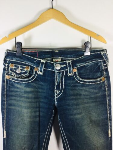True bianca Size Medium Jean Taschina Denim Wide 29 patta Religion con Wash PPrwx6Uq