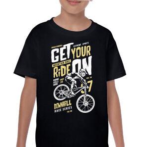 Get-Your-chevauchee-enfants-garcons-Descente-CYCLISME-VTT-T-shirt-Velo-MTB