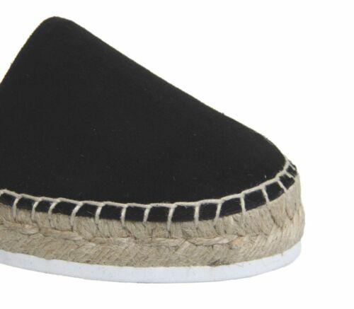 Femme Bureau fougueux espadrilles en daim noir Flats