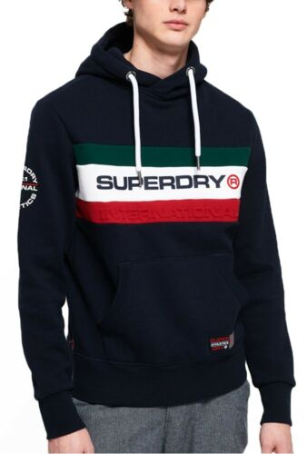 Eclipse Superdry Trophy Overhead Band Sweat Top Navy Felpa Hood Logo Hoodie zzwrqA