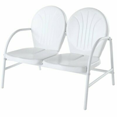 Crosley Griffith Metal Patio Loveseat In White