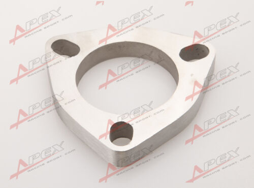 """3.0/"""" 3 Bolt SS304 Slotted Flange Exhaust Downpipe Pipe Catback Header 1//2/"""" Thick"""