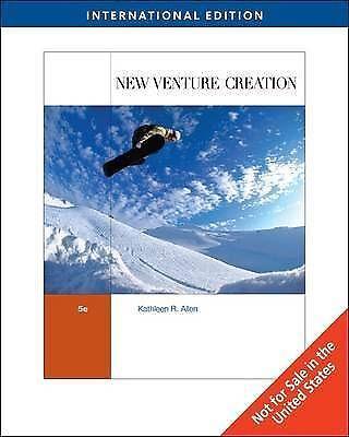 1 of 1 - New Venture Creation, International Edition (Fifth Edition), ALLEN, Very Good