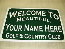 CUSTOM GOLF COURSE & COUNTRY CLUB Metal Sign 4 Garage Man Cave Home Bar Office