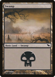 20x Shadowmoor SWAMP #293 Same Art Basic Land NM/LP MTG Magic the Gathering