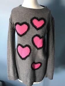 8811934c0a0a4c Image is loading Sonia-Rykiel-Kids-Girls-Sweater-Dress-Hearts-Cashmere-