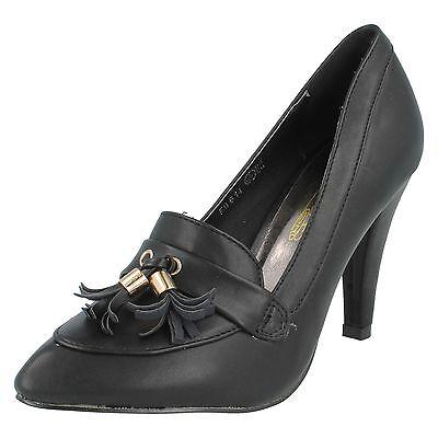 Mujeres Puntera Tacón Alto Detalle De Borla DELANTERO Zapatos salón en punta