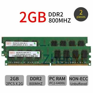 New-4GB-2x-2GB-1GB-PC2-6400-DDR2-800MHz-DIMM-Desktop-RAM-Memory-For-Hynix