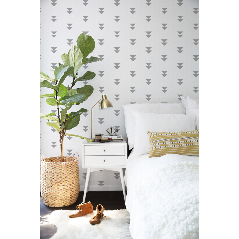 grau triangles Non-Woven wallpaper Simple wall Home Mural Geometric Traditional