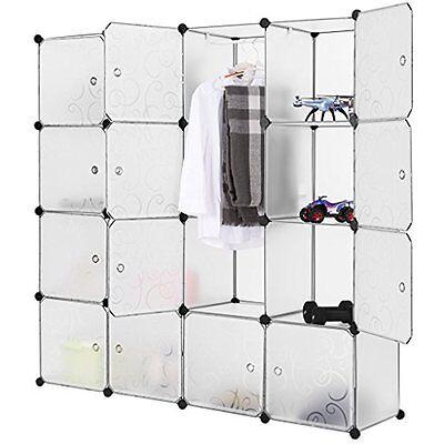Charmant LANGRIA 16 Closet Systems Cubby Shelving Cube Organizer Plastic Storage  Cubes 768390158427 | EBay