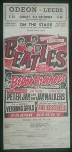 OLD-BEATLES-CONCERT-POSTER-2-SIDED-ODEON-LEEDS-1-SIDE-OTHER-ODEON-SOUTHPORT