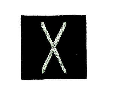 Patch ecusson brode thermocollant viking odin sorcellerie rune alphabet yew