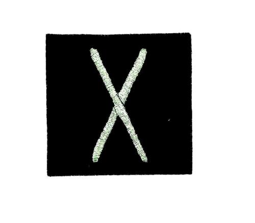 Patch ecusson brode thermocollant viking odin sorcellerie rune alphabet talent