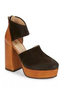 743131f629f New Free People Luxor Suede Platform Heels Clogs Brown Size 8.5 Reg ...