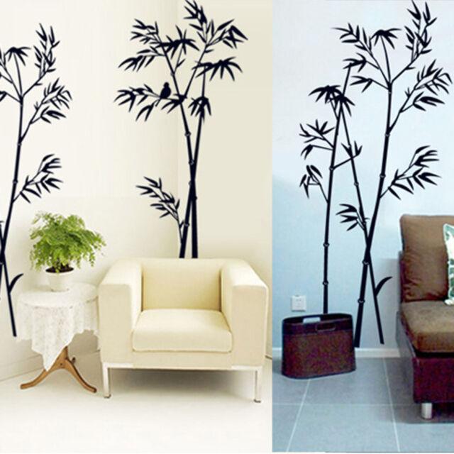 DIY Removable Bamboo PVC Art Vinyl Wall Sticker Home Room Mural Decor
