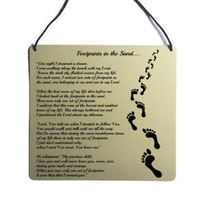 sand Faith God positive poem wall art