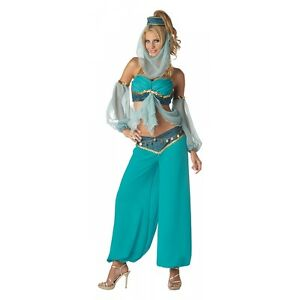 Image is loading Genie-Costume-Adult-Sexy-Belly-Dancer-Harem-Girl-  sc 1 st  eBay & Genie Costume Adult Sexy Belly Dancer Harem Girl Halloween Fancy ...