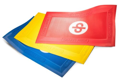 Drakes Pride Indoor/Lawn Regulation Foot Mats (Yellow, Red and Blue)