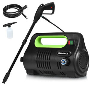 1800PSI-Portable-Electric-High-Pressure-Washer-1-96GPM-1800W-W-Hose-Reel-Green