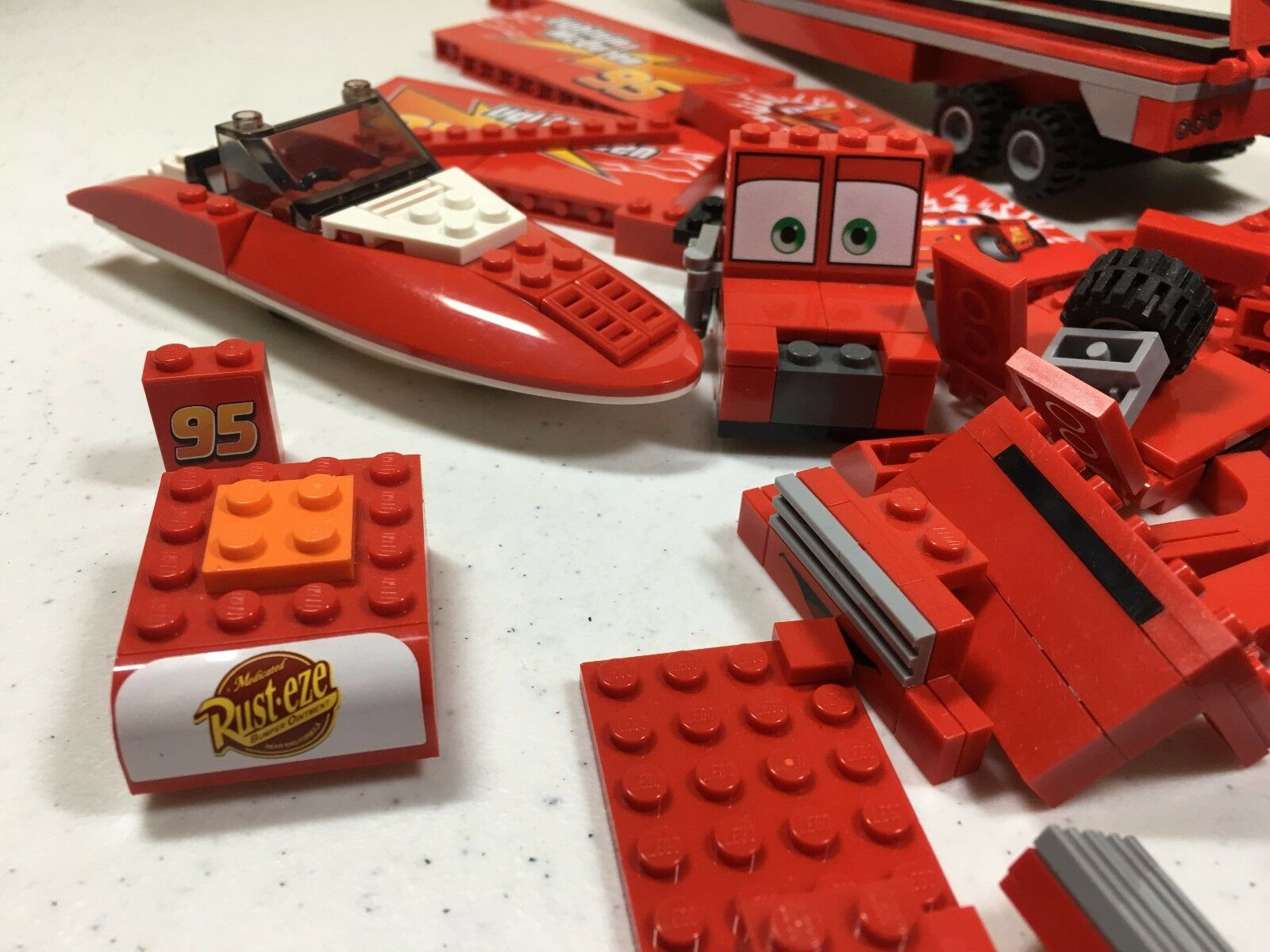 Pixar Cars Cars Cars Red Lego Mixed Lot 471082