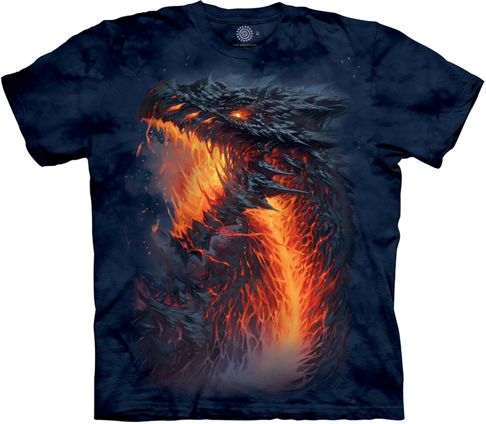 The Mountain Unisex Adult Lavaborn Dragon Fantasy T Shirt
