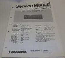 Panasonic Auto AM-FM Digital Radio Service Manual CQ-37 FGV FUV