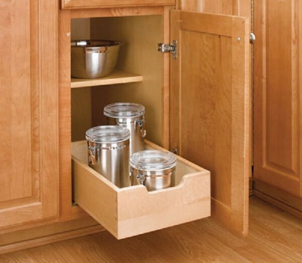 REV-A-SHELF PRE-MADE WOOD PULLOUT DRAWER RS4WDB