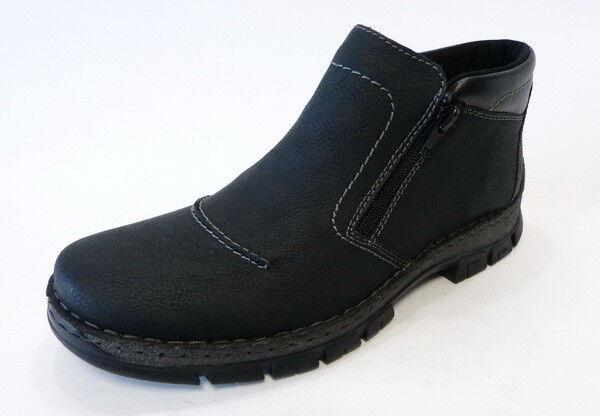 Rieker Herren Stiefel 12271 00 schwarz Reißverschluß Warm