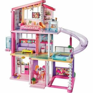 Details about Barbie Dreamhouse 3 Floors 8 Rooms w/ Working Elevator, Pool  & Slide 3 feet tall