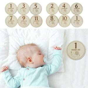 Baby-Monthly-Milestone-Wooden-Card-Infants-Newborn-Growth-Album-Photography-Prop