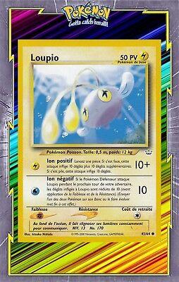 Carte Pokemon LOUPIO 42//64 Commune Néo révélation Wizard Française NEUF