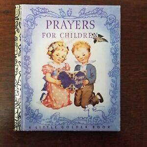Prayers for Children ~ Vintage 1992 Children's Little Golden Book