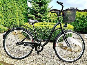 28-034-City-Bike-Ladies-Town-Hybrid-Dutch-Vintage-Women-Cycle-3Gears-Basket-NOLOGO