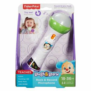 Fisher-Price-Laugh-amp-Learn-Rock-and-Record-Microphone-Brand-New
