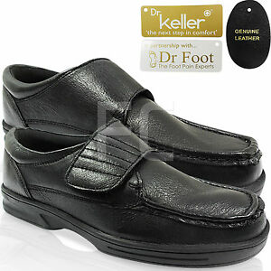 NEW MENS GENTS WIDE FIT TOUCH LEATHER