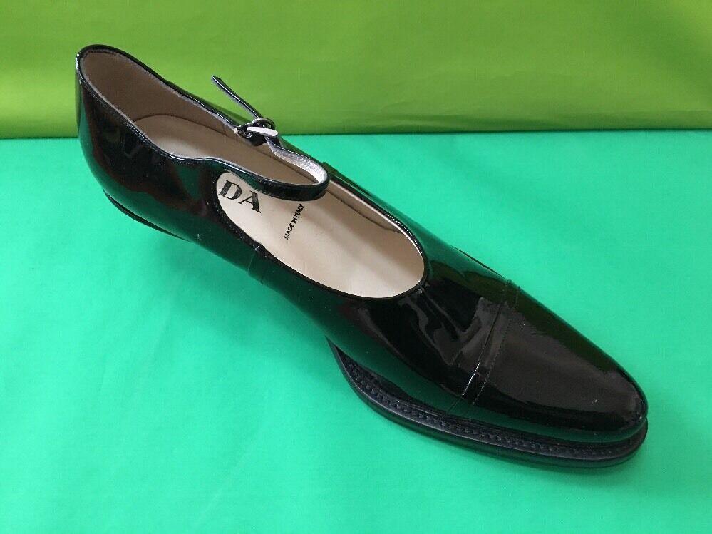 Prada Charol Negro Tira al Tobillo Zapatos de de de salón, Italia  precios al por mayor