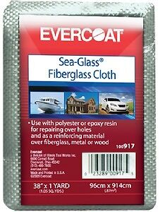 "New Sea-glass Fiberglass Cloth evercoat 100918 38/"" x 3 yds.//Package"