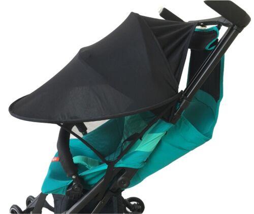 Universal Baby Pushchair Stroller Pram Buggy Black Sun Shade Canopy UV Cover UK