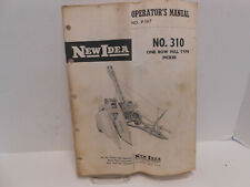New Idea 310 Corn Picker Operators Manual Parts Catalog Gathering Unit 1 Row