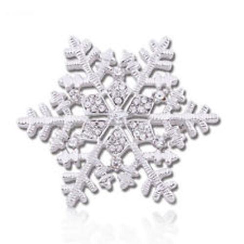 Weihnachten Weiß Blau Violett Rosa Gold Schneeflocke Brosche Weihnachtsgeschenk