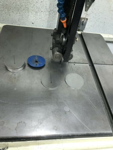 """STEEL band saw Zero Clearance Insert Puck 2.5"""" JET DELTA MILWAUKEE ROCKWELL CAD"""